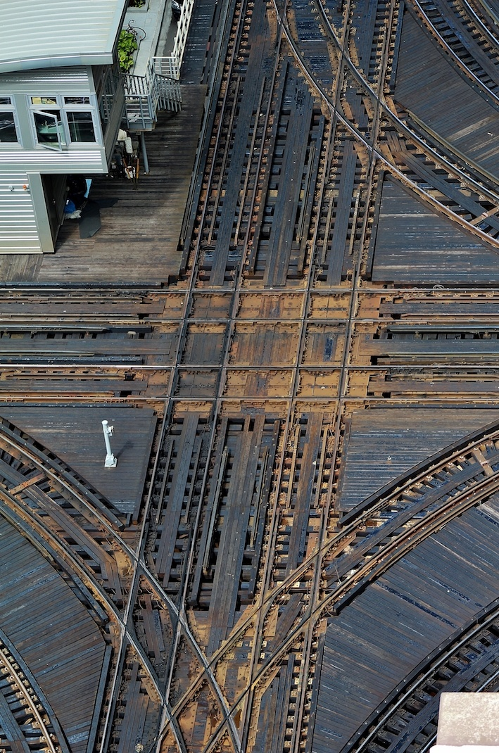 Debra Paulson - Living On The Grid - Intersection of Lake and Wells Street El Train Tracks (Chicago)