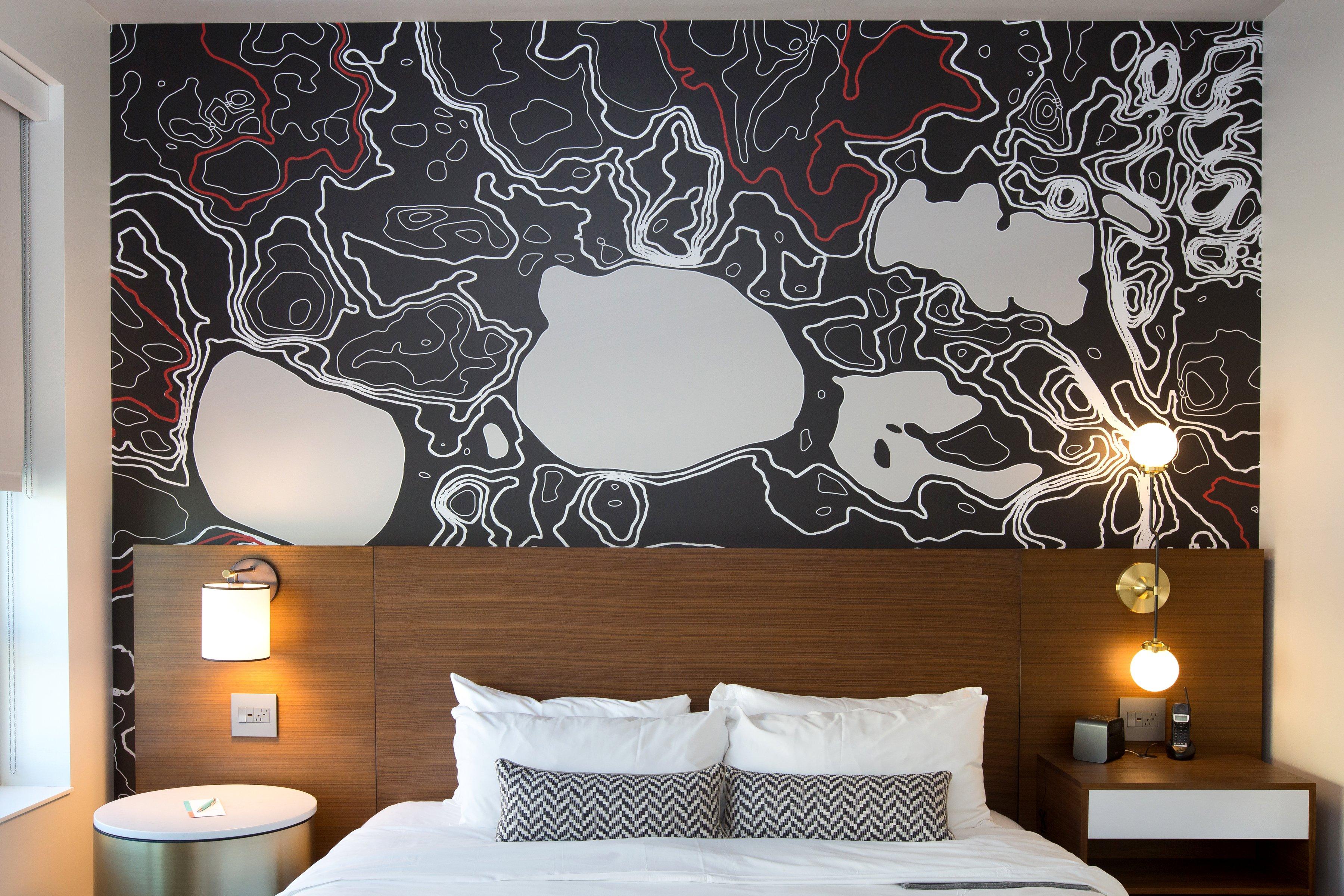 Evan Rosen custom wall vinyls for Le Meridien Minneapolis