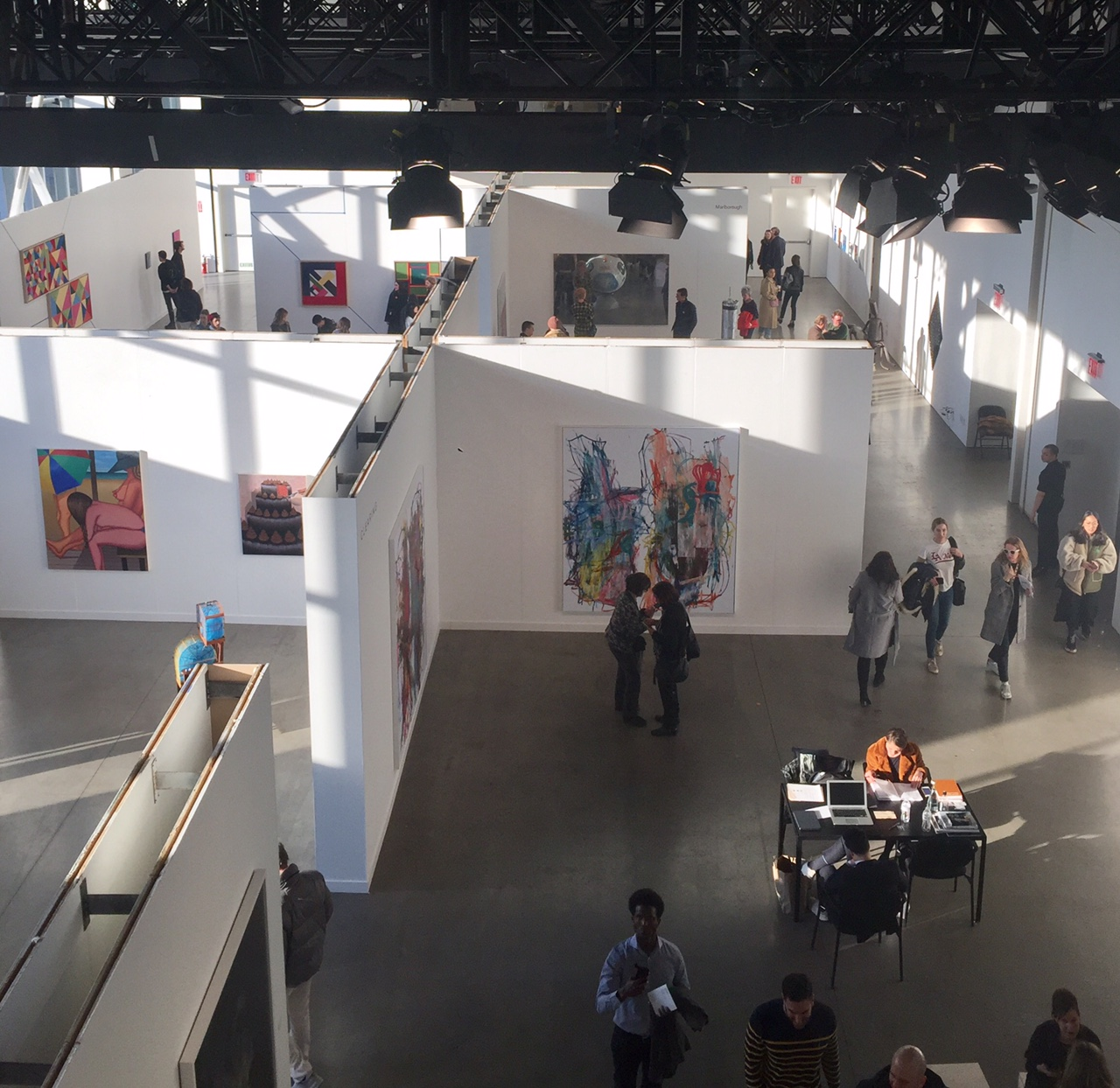 Independent Art Fair from above