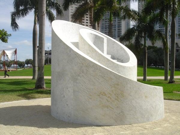 'Slide Mantra' by Isamu Noguchi, Miami, Florida