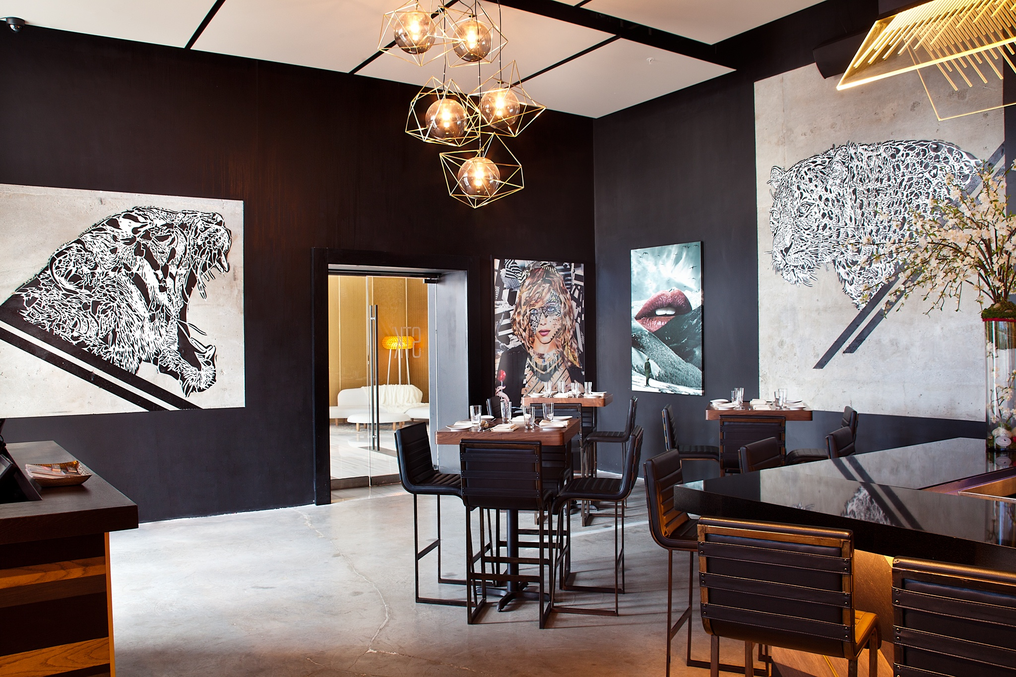 STK Miami with artwork by The DOWW, Katy Hirschfeld, and Jenya Vyguzov