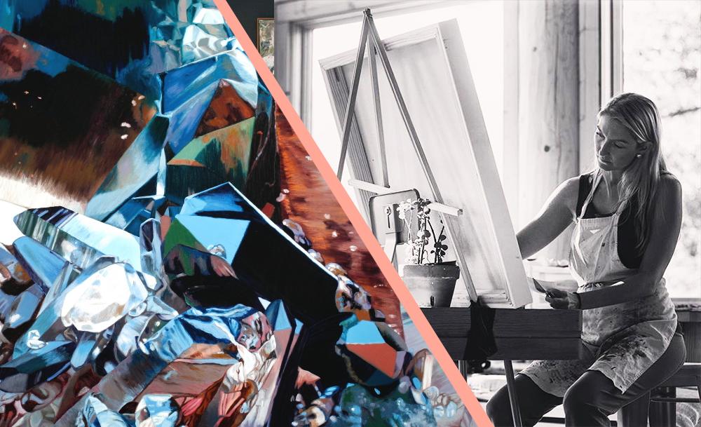 Chloe Hedden in Studio